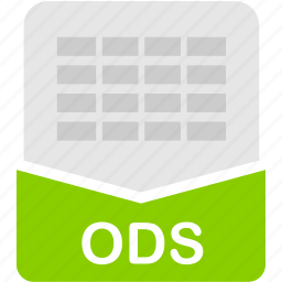 extension, file, format, ods, spreadsheet icon