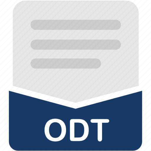 document, extension, file, format, odt icon