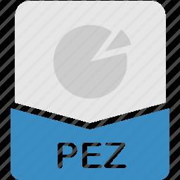 extension, file, format, pez, presentation icon