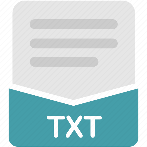 document, extension, file, format, text, txt icon