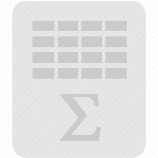 extension, file, format, spreadsheet icon