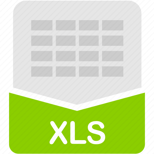 excel, extension, file, format, spreadsheet, xls icon