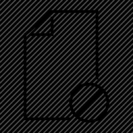 block, cancel, deny, file, remove icon