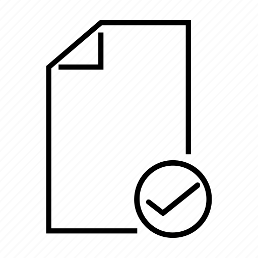 accept, aprove, check, file, mark icon