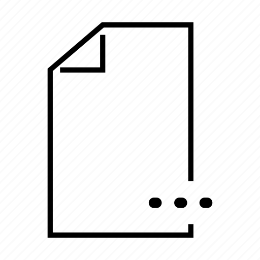 dots, file, info, menu, more icon