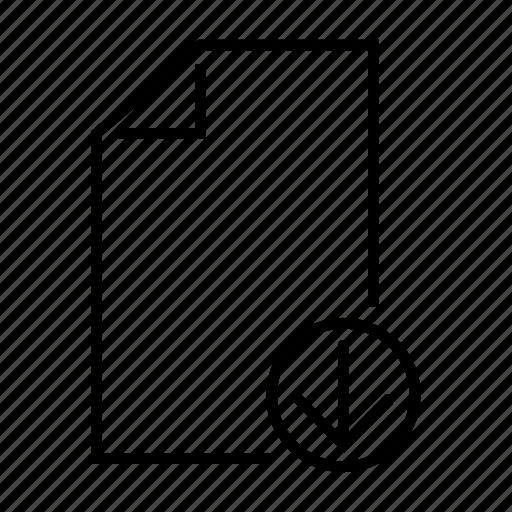 arrow, down, file, inbox, recieve icon
