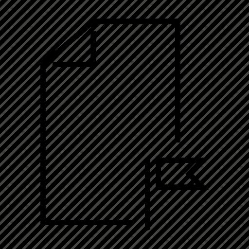 bookmark, favourite, file, flag, mark icon