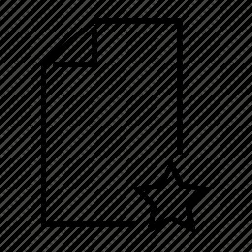 bookmark, document, favourite, file, star icon