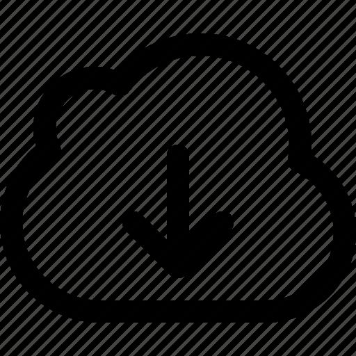 cloud, cloud download, download, downloading, export, guardar, save icon