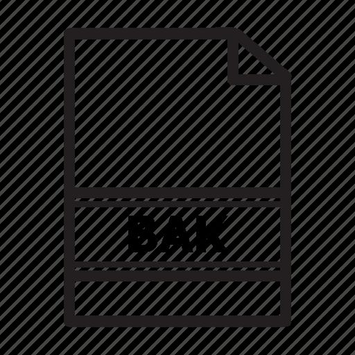 bak, file, files, type icon