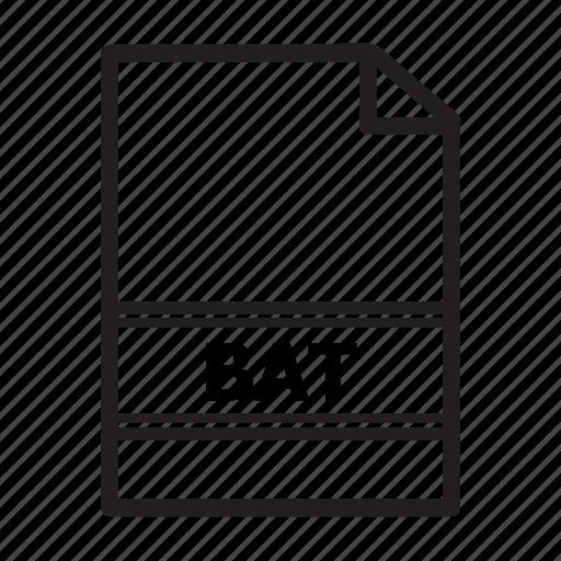 bat, file, run, type icon
