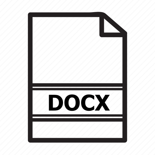 document, docx, file, type, word icon