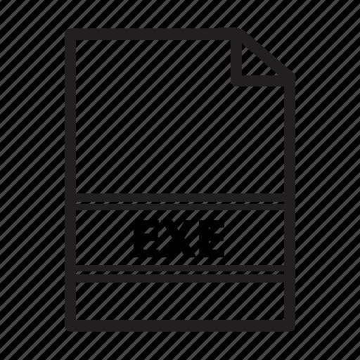 exe, file, format, run, type icon