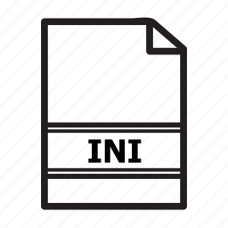 file, files, ini, text, type icon