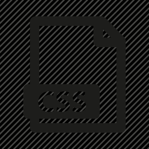 css, document, extension, type icon