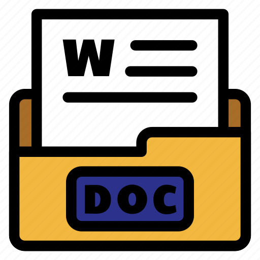 doc, doc file, documents, extension, file type, format, text icon