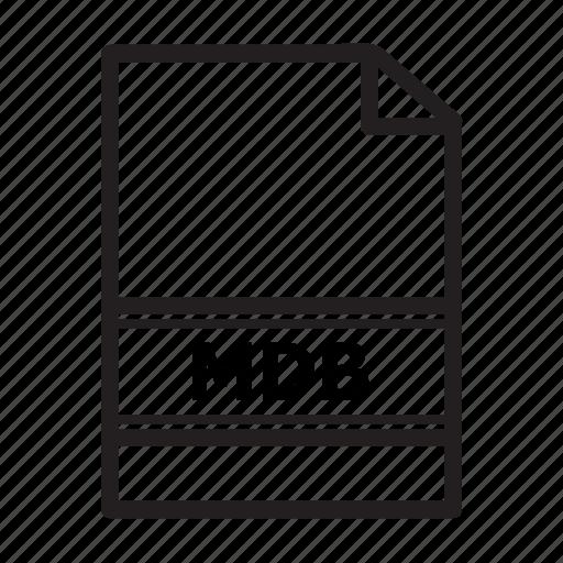 data, document, file, files, mdb, type icon