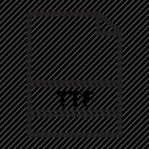 file, image, ttf, type icon