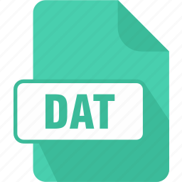dat, documents, extension, file, shape, type, video icon