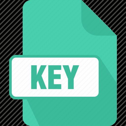 apple, extension, file, key, keynote presentation, type icon