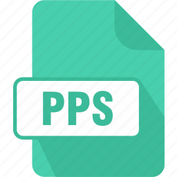 extension, file, powerpoint, powerpoint slide show, pps, slideshow, type icon