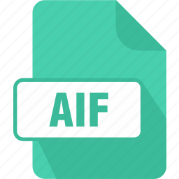 aif, audio interchange file format, document, extension, file, folder, page icon