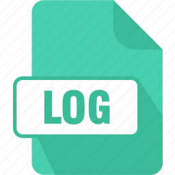 documents, extension, file, log, log file, page, type icon