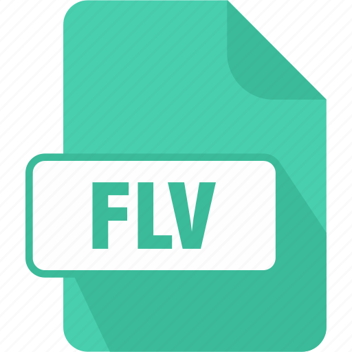 documents, extension, file, flash video file, flv, type icon