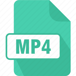 documents, extension, file, mp4, shape, type, video audio icon