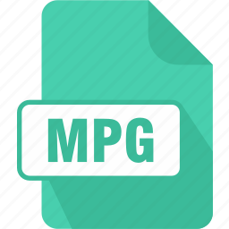 audio, document, extension, file, mpg, type, video icon