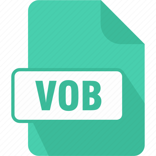 dvd video object file, extension, file, shape, video object, vob icon