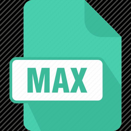 autodesk, extension, file, format, max, max 3d, max 3ds scene file icon