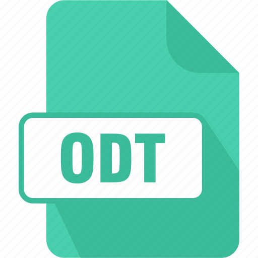 extension, file, format, odt, opendocument text document, page, paper icon