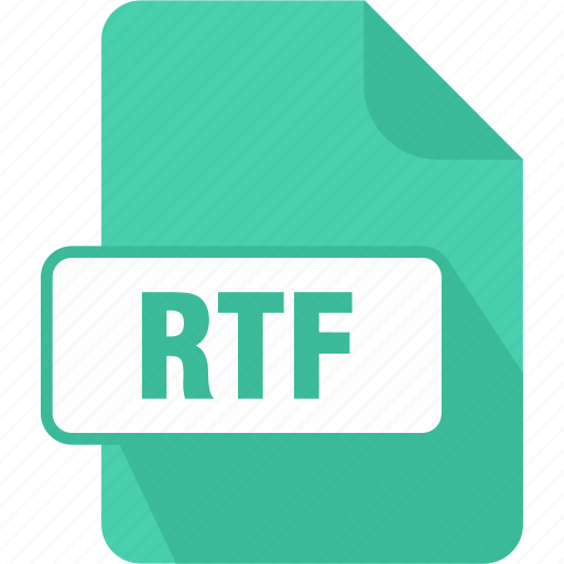 documents, extension, file, rich text format file, rtf, text, type icon