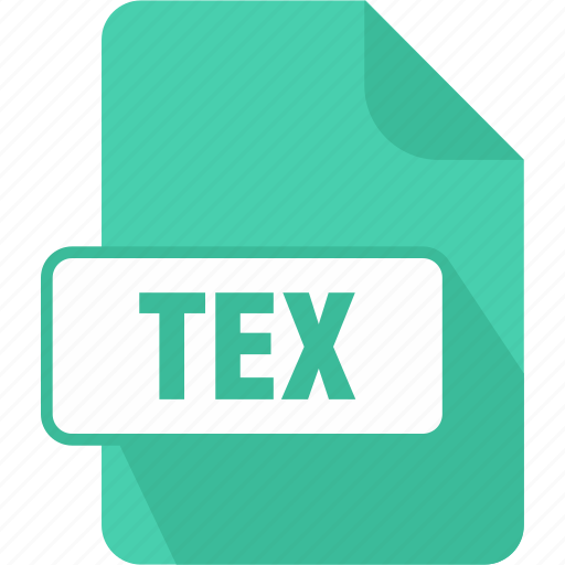 extension, file, latex source document, tex, type icon