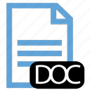 doc, file, type icon