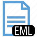 eml, file, type icon