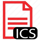 file, ics, type icon