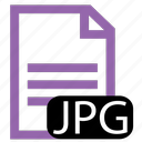file, jpg, type icon