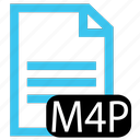 file, m4p, type icon