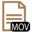 file, mov, type icon