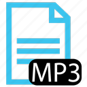 file, mp3, type icon