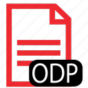 file, odp, type icon