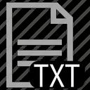 file, txt, type icon