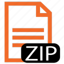 file, type, zip icon