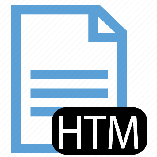 file, htm, type icon