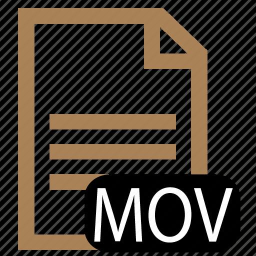 file, mov, type icon