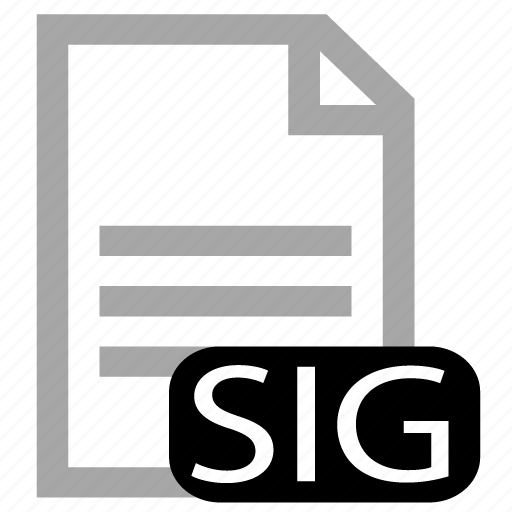 file, sig, type icon