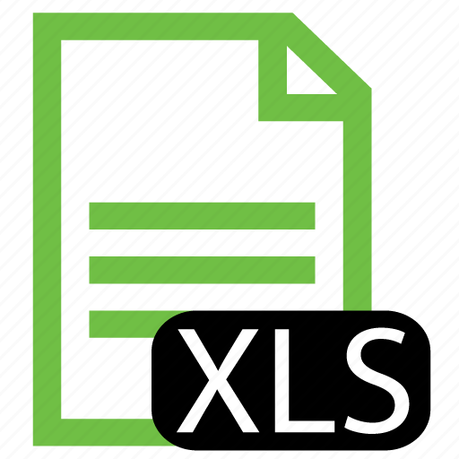 file, type, xls icon
