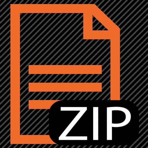 file, type, zip icon